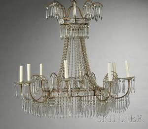Pair of Regencystyle Eightlight Chandeliers