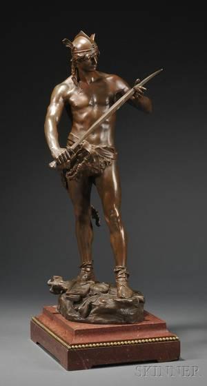 AndrePaulArthur Massoulle French 18511901 Bronze Figure Depicting the Sword of Valor