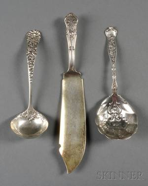 Three American Sterling Flatware Serving Pieces