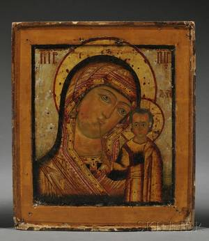Russian Icon Depicting the Kazan Mother of God
