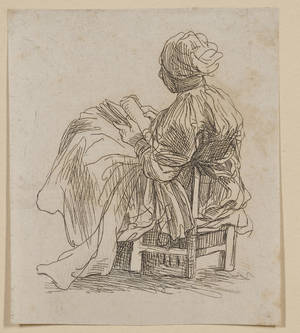 Lot of Nine Etchings By or After Stefano della Bella