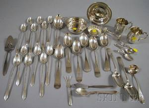 Group of Silver Flatware and Small Silver Tableware Items