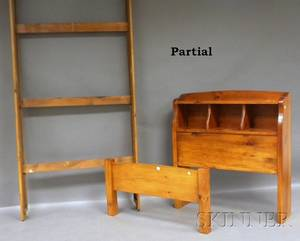 Pair of Pine Bookcase Headboard Twin Beds