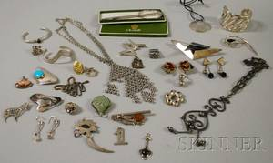 Group of Sterling Silver and Mixed Metal Jewelry and Accessories