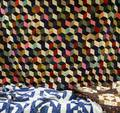 Two Pieced Cotton Geometric Pattern Quilts and a Pieced Wool and Cotton Blocks Pattern Quilt
