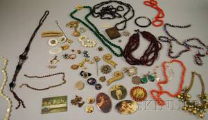 Small Group of Victorian and Later Costume Jewelry