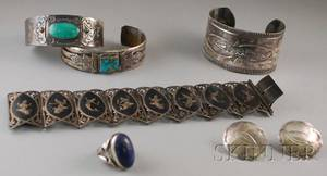 Small Group of Mostly Native American Silver Jewelry