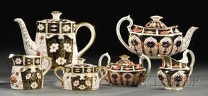 Eleven Royal Crown Derby Porcelain Teaware Items