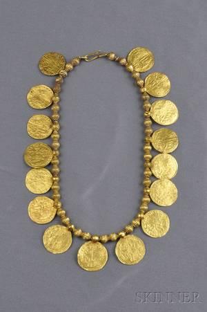 High Karat Gold Coin Necklace