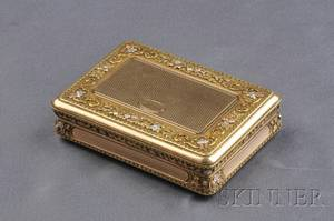 Antique 14kt TriColor Gold Box