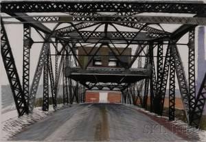 Mela Lyman American 20th21st Century Point Street Bridge Providence Rhode Island