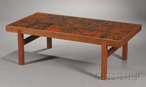 MidCentury Modern Tile Top Coffee Table