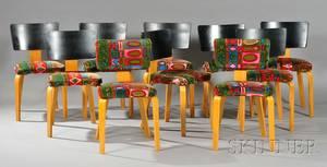 Ten MidCentury Modern Thonet Chairs