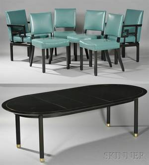 Baker Dining Table and Six Chairs