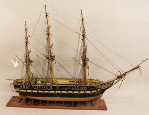 Fully Rigged Model of a Sailing Ship
