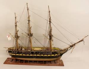 Fully Rigged Model of a Sailing Ship