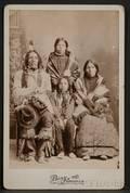 Cabinet Card of a Lakota Family