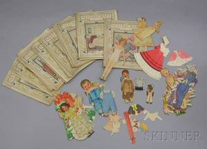 Group of Assorted Paper Dolls and Twentyfive 192425 Issues of Needlepoint Magazine