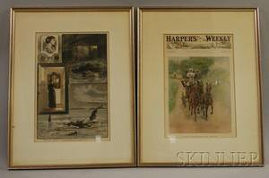 Eleven Framed Handcolored 19th Century Periodical Illustrations Depicting Newport Rhode Island