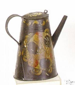 Pennsylvania tole decorated coffee pot ca 1830