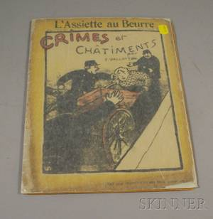 Flix Vallotton Swiss 18651925 Lot of Twentythree Plates from Crimes et Chatiments A Special Magazine Issue of LAssiette au B