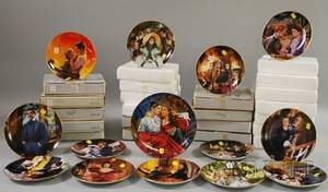 Collection of Thirtyfive WS George Critics Choice GonewiththeWind Transfer Decorated Porcelain Collectors Plates