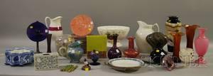Twelve Pieces of Contemporary Art Glass and Twentythree Pieces of Assorted Ceramic Tableware