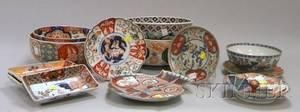 Thirteen Pieces of Imari Porcelain Tableware