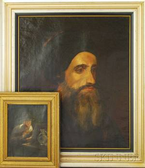 Two Framed Oil on Canvas Portraits of Men