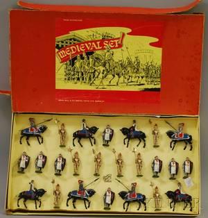 Twentyfour John Hill  Co Medieval Lead Toy Soldiers Set