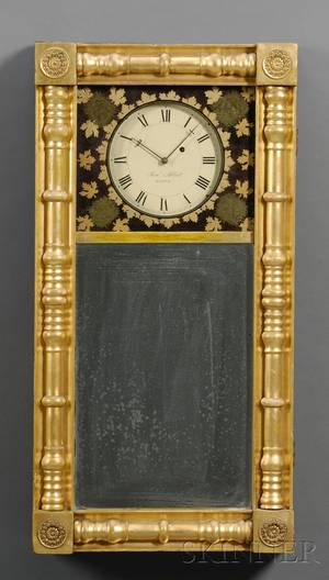 Gilt Empire Mirror Clock by Samuel Abbott