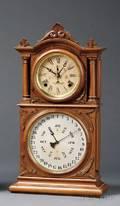 Walnut Lewis Patent Calendar Clock by Ingraham