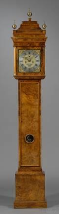 Walnut Veneered Longcase Clock by Thomas Watts