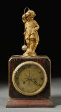 French Rosewood Conical Pendulum Clock by Brevete