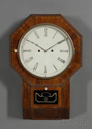 Rosewood ThirtyDay Lever Spring Wall Clock by Atkins Clock Company