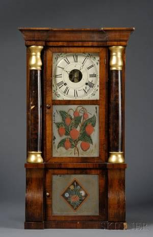 Mahogany SleighFront Shelf Clock by Seth Thomas