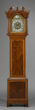 Oak and Mahogany Longcase Clock by Thomas Radford