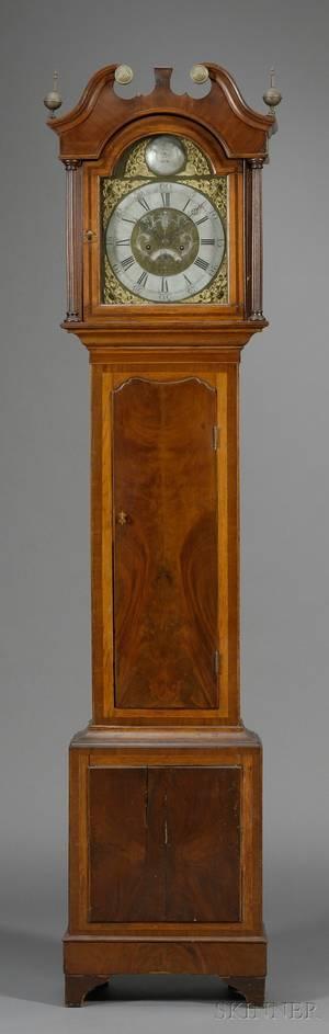 Oak and Mahogany Longcase Clock by Thomas Radford