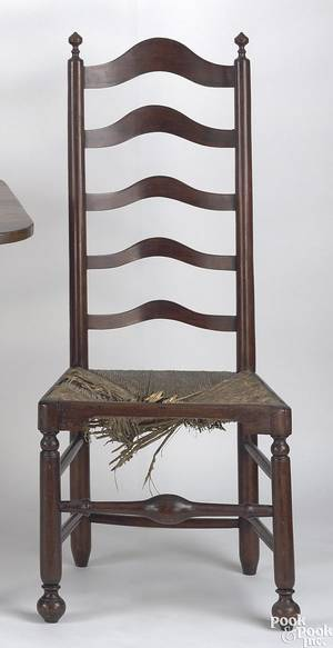 Pennsylvania 5slat ladderback side chair ca 1760