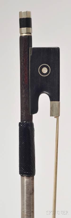 French Nickel Mounted Violin Bow Eugene Sartory