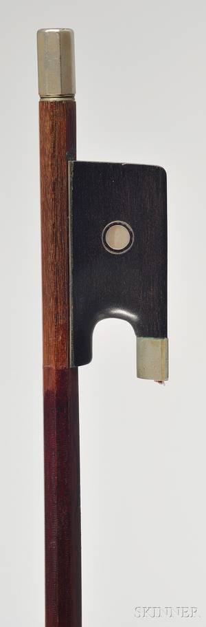 Nickel Mounted Violin Bow Bausch Workshop