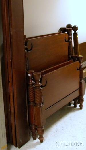 Pair of Classicalstyle Carved Maple Twin Beds