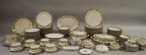 104piece Haviland Limoges Rumania Pattern Porcelain Partial Dinner Service