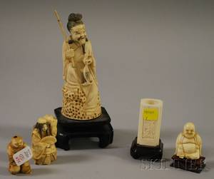 Four Asian Carved Ivory Figures