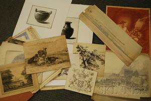 Portfolio of 19th20th Century Works on Paper Edward Seager AngloAmerican 1809  1886 and other artists