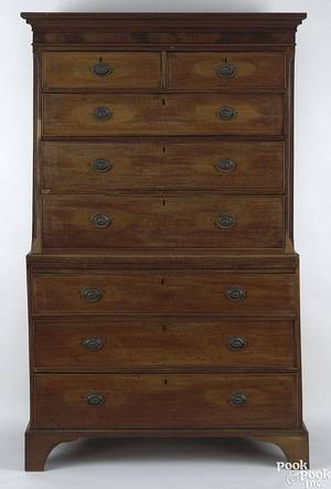 George III mahogany chest on chest ca 1780