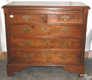 Pennsylvania Chippendale walnut bachelors chest ca 1790
