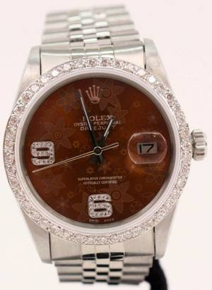 Rolex Datejust Watch with Diamond Bezel