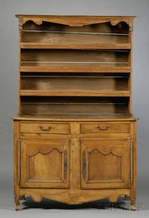 French Provincial Cherry Buffet a Deux Corps