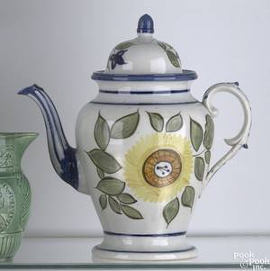 Pearlware coffee pot ca 1815